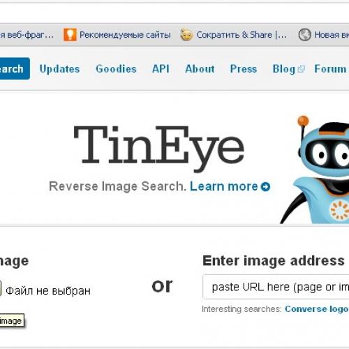 Как найти фотографию в интернете с помощью TinEye