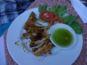 Блюдо с крокодилом на гриле. Вкусно приготовили, между прочим